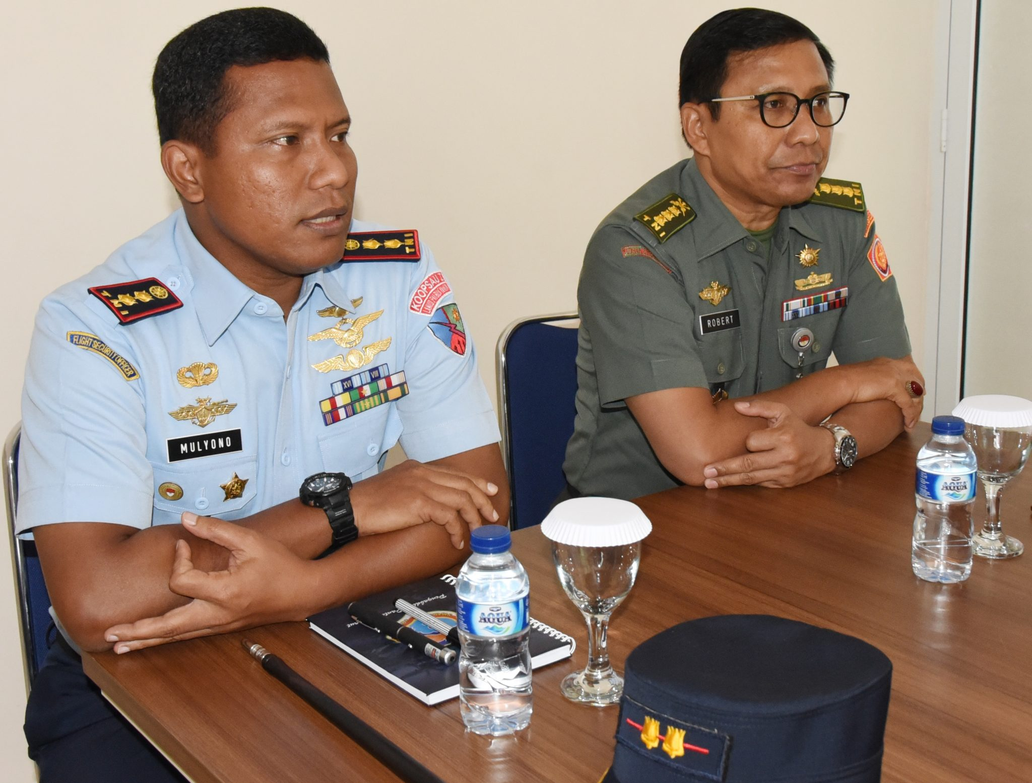 Danlanud Pangeran M. Bun Yamin Menerima Kunjungan dari Perwakilan Kementrian Pertahanan (PKP) Provinsi Lampung.