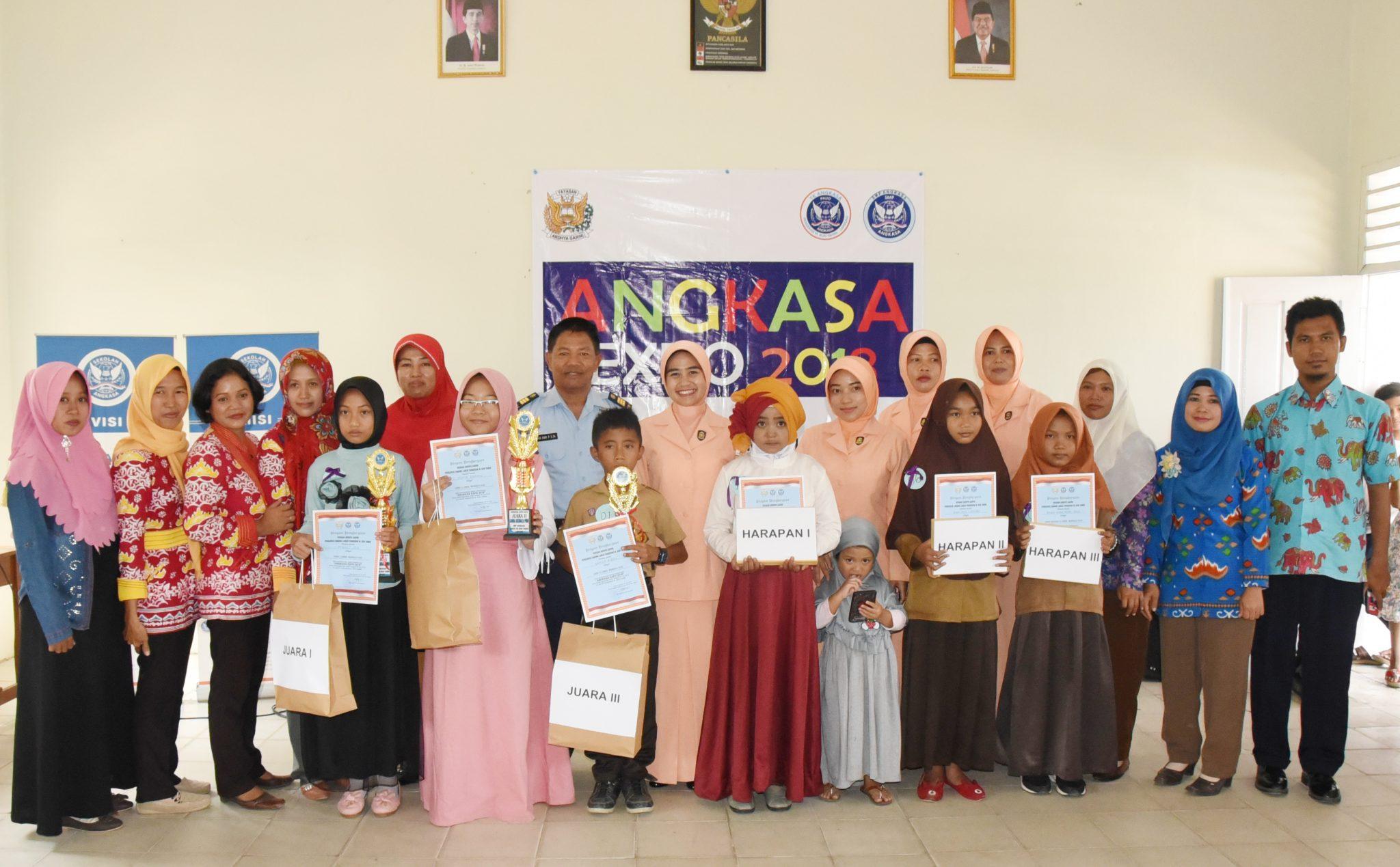 Lanud Pangeran M. Bun Yamin Mengadakan Kegiatan Angkasa Expo tahun 2018 di Sekolah TK Angkasa dan SMP Angkasa.