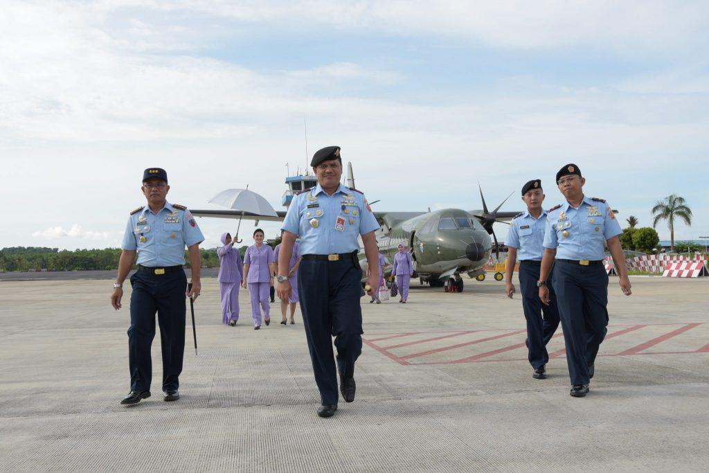 Danlanud RHF Sambut Kedatangan Pangkosekhanudnas I ke Tanjungpinang