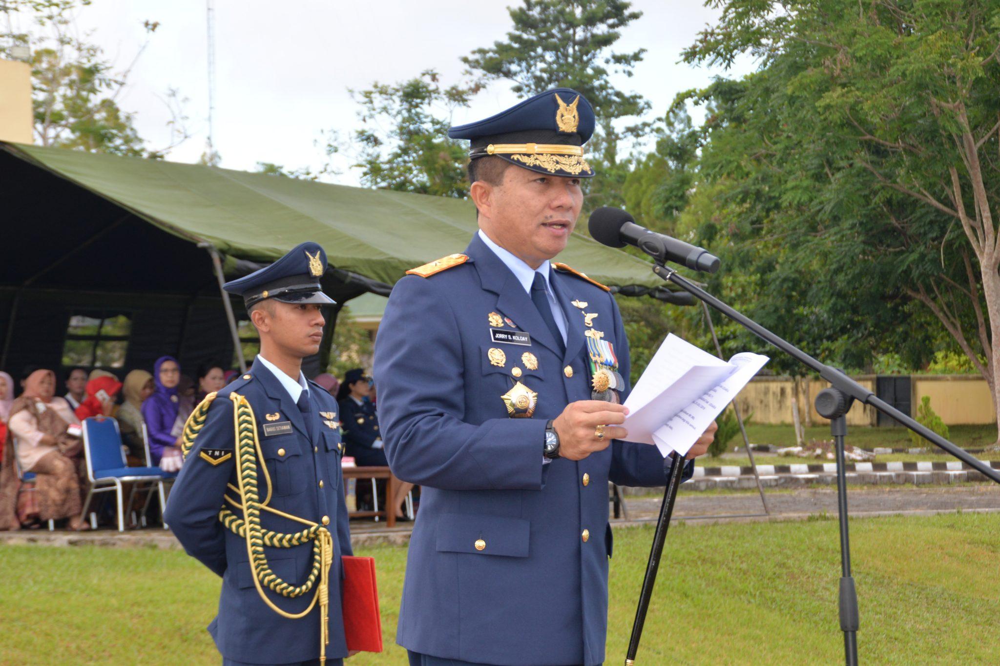 TNI AU Wilayah Biak Gelar Upacara Hari Bakti TNI AU Ke-71