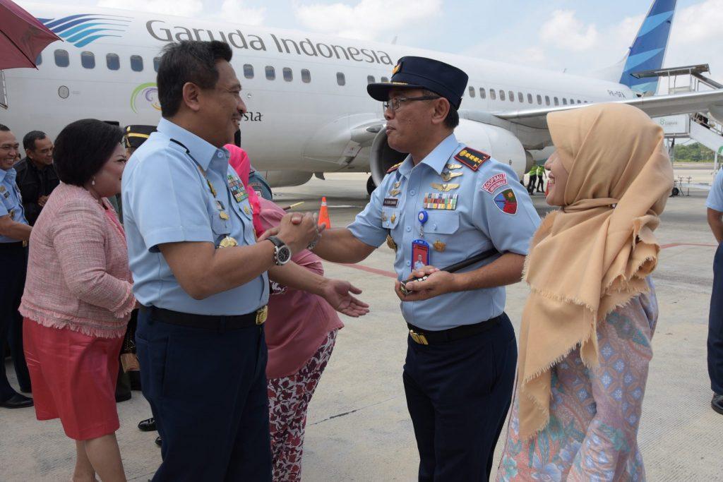 Danlanud RHF Sambut Kedatangan Wagub Lemhanas RI beserta rombongan di Tanjungpinang