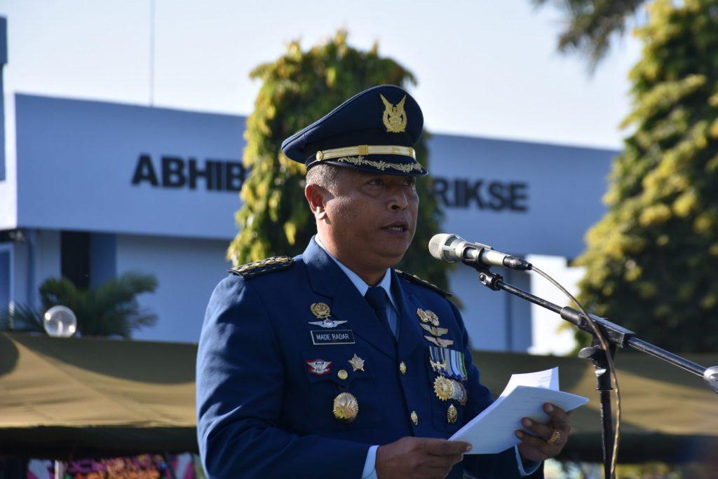 Upacara Peringatan Ke-71 Hari Bakti TNI Angkatan Udara Di Makassar