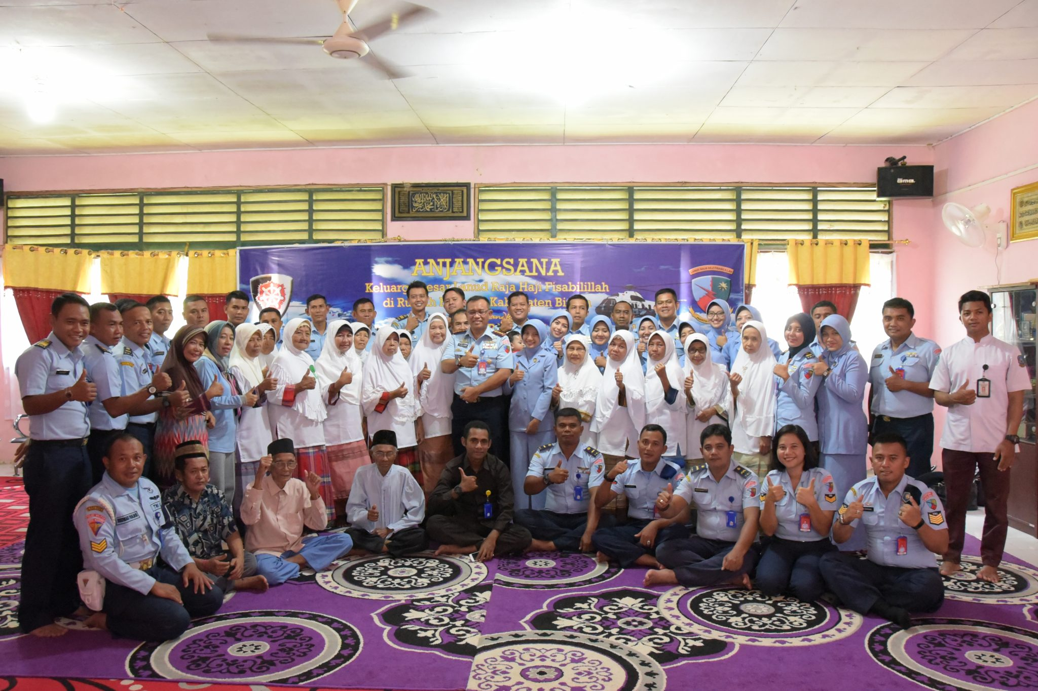 Keluarga Besar Lanud Rhf Berbagi Kebahagiaan di Panti Jompo Rumah Bahagia Kabupaten Bintan