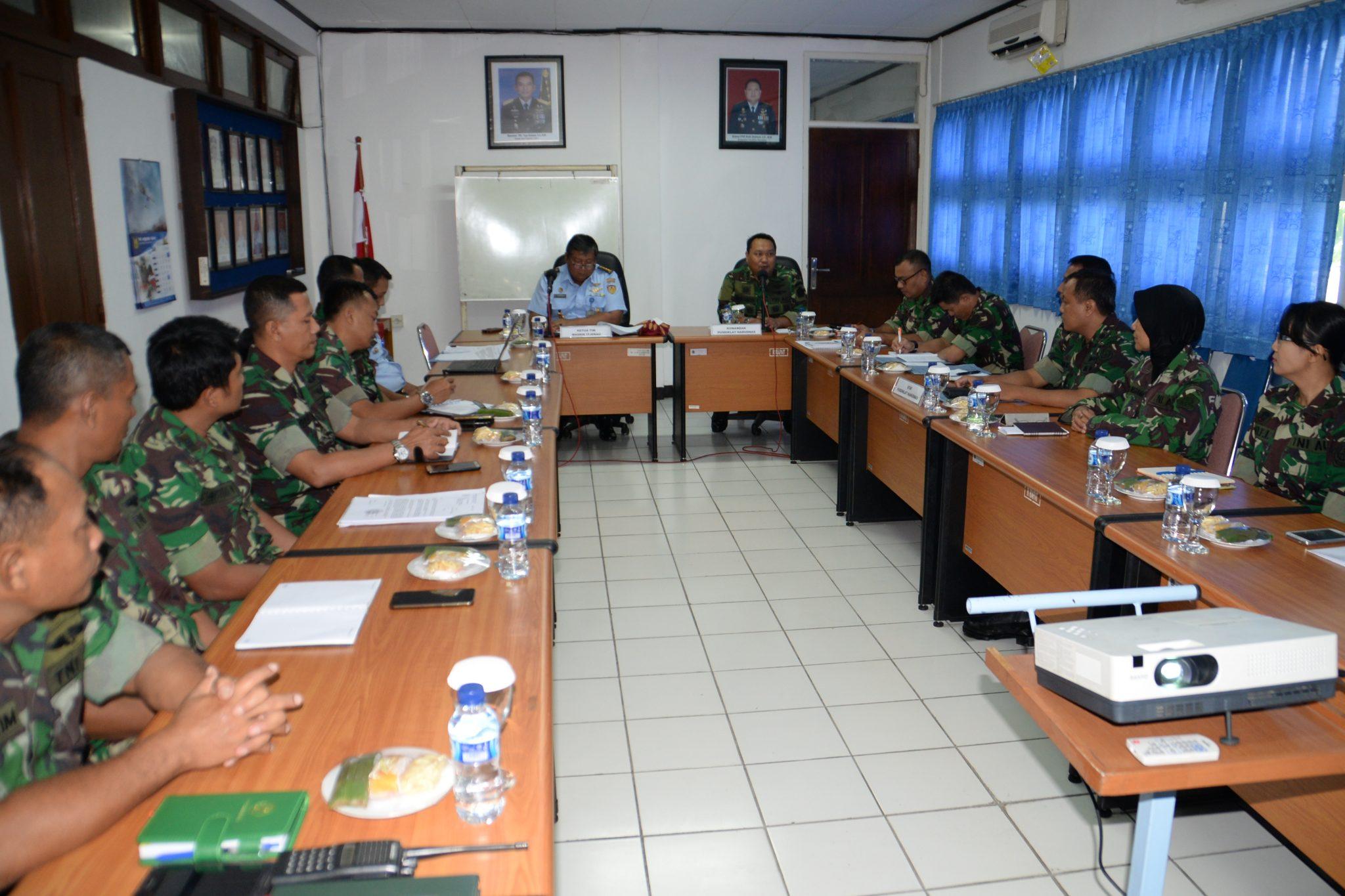 Tim Pemutakhiran Data Wasrik Itjenau di Pusdiklat Hanudnas Surabaya