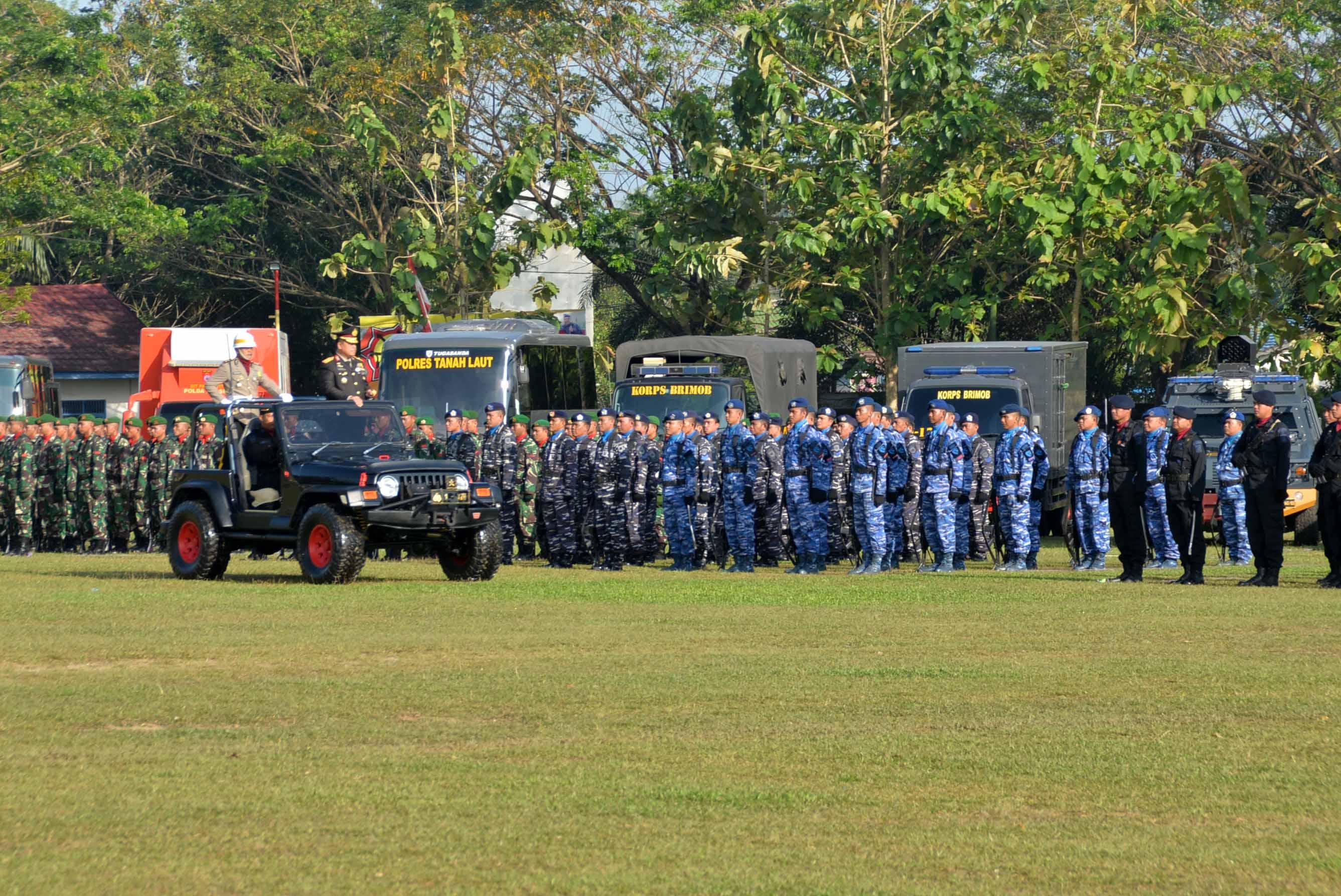 Lanud Sjamsudin Noor Ikuti Upacara HUT Bhayangkara ke-72 Di Mako Brimob Polda Kalimantan Selatan