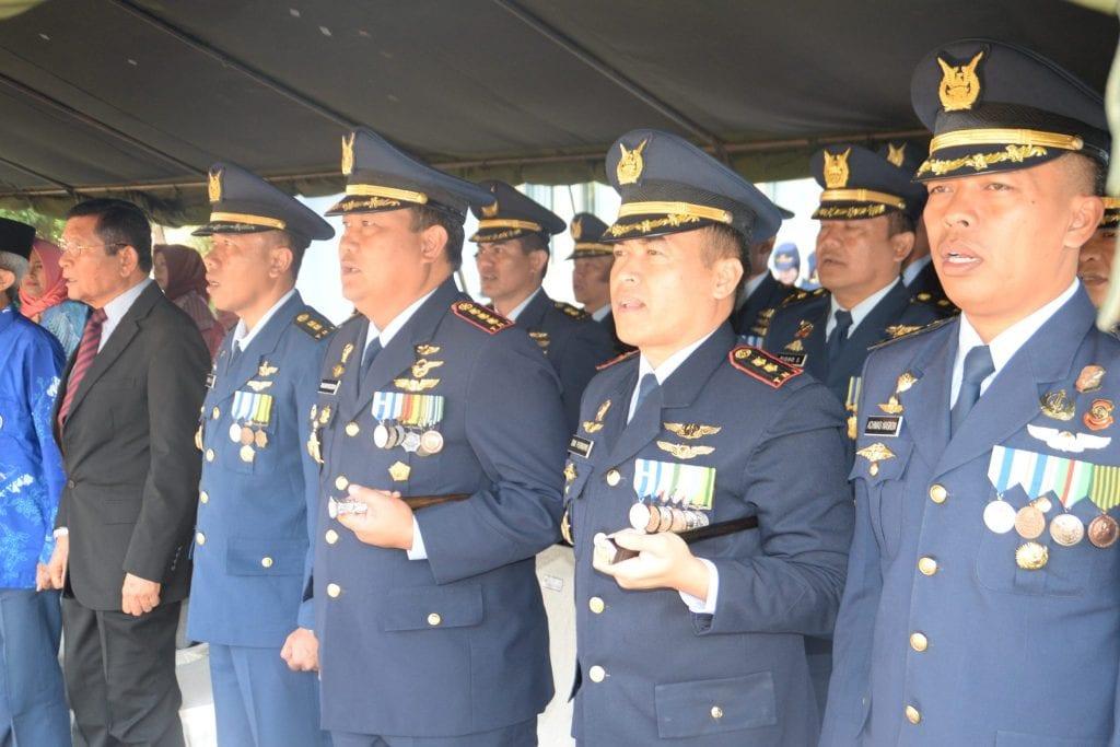 Komandan Pusdiklathanudnas Surabaya Hadiri Upacara Hari Bakti TNI AU Ke–71