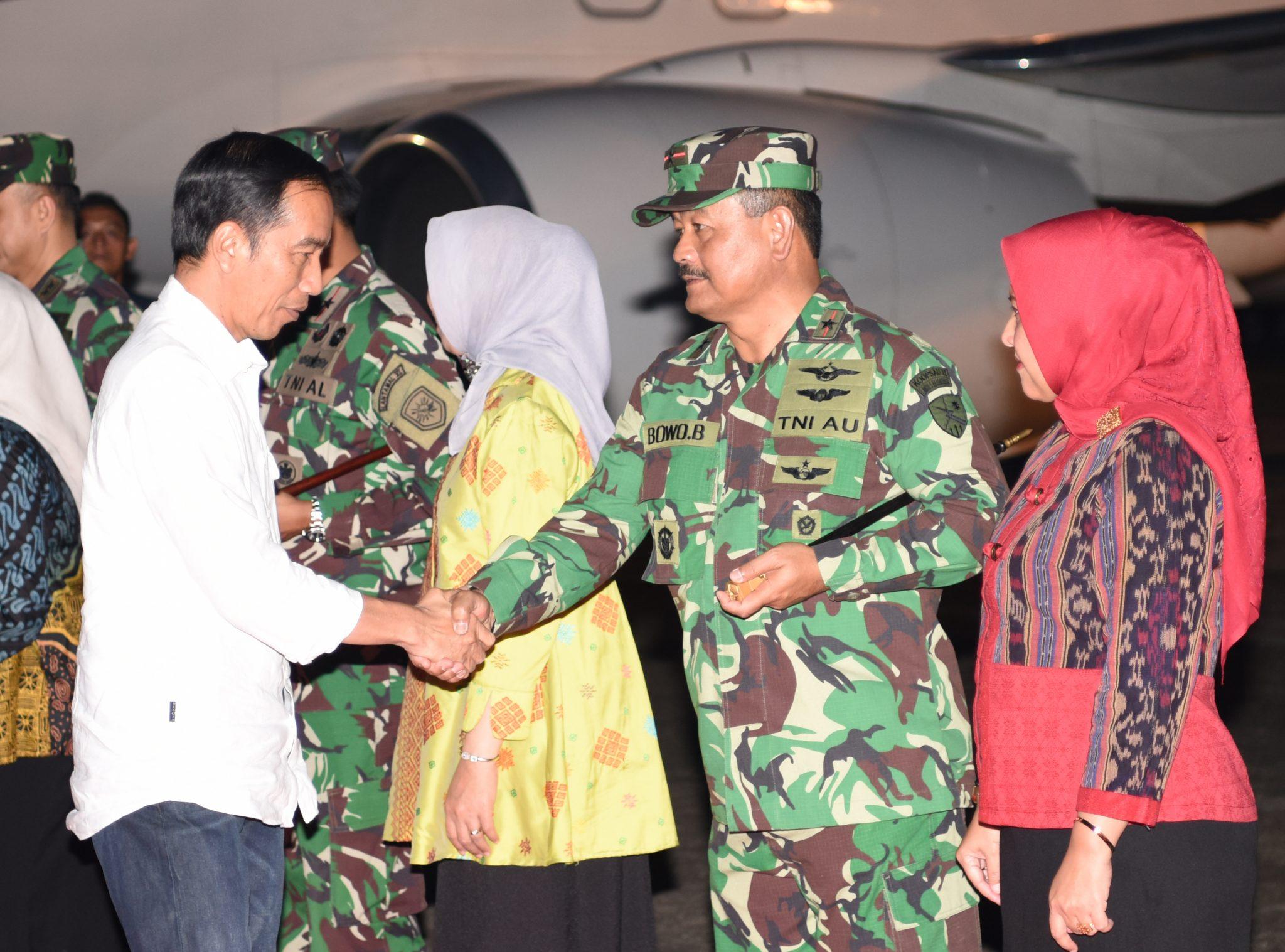 Komandan Lanud Sultan Hasanuddin Sambut Kuker Presiden RI
