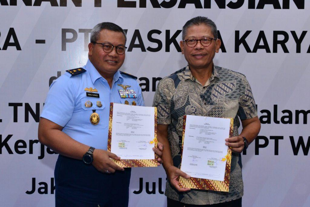 Bina Aspek K3L, PT Waskita Karya Jalin Kerja Sama dengan TNI AU