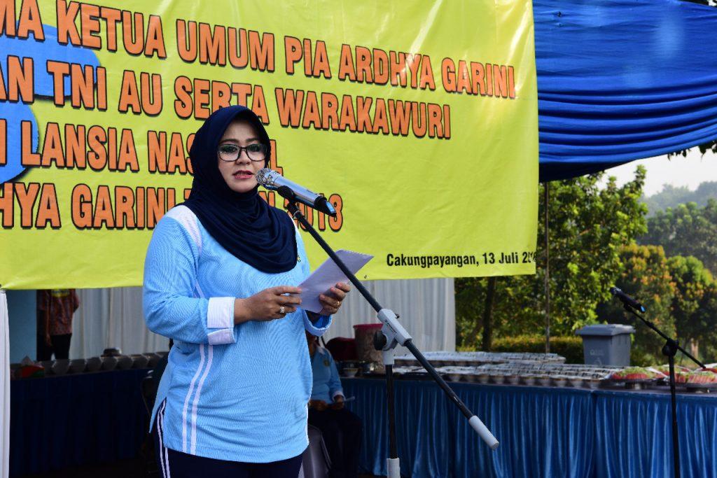 Ketum PIA Ardhya Garini Silaturahim dengan Purnawirawan dan Warakawuri TNI AU