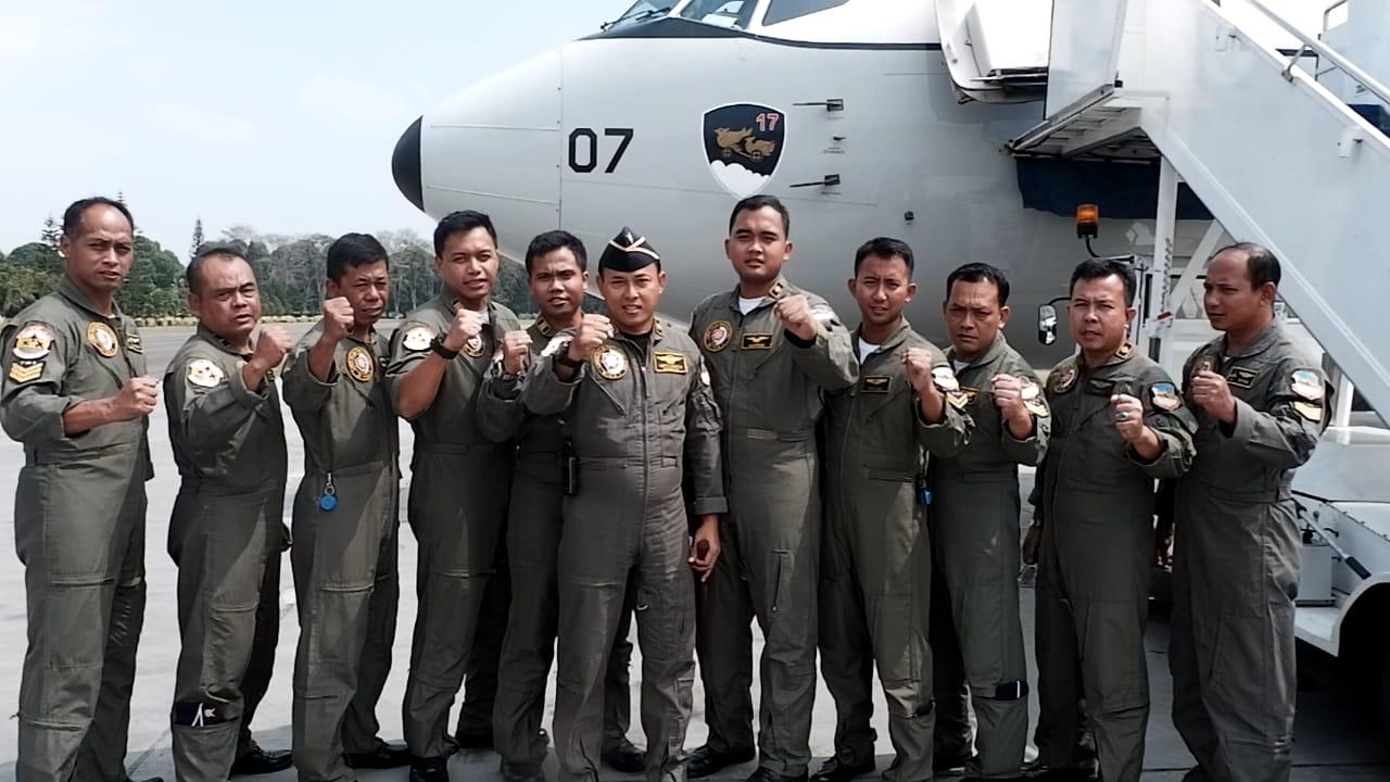 Pesawat TNI AU Terbangkan Api Asian Games 2018 ke Seluruh Indonesia