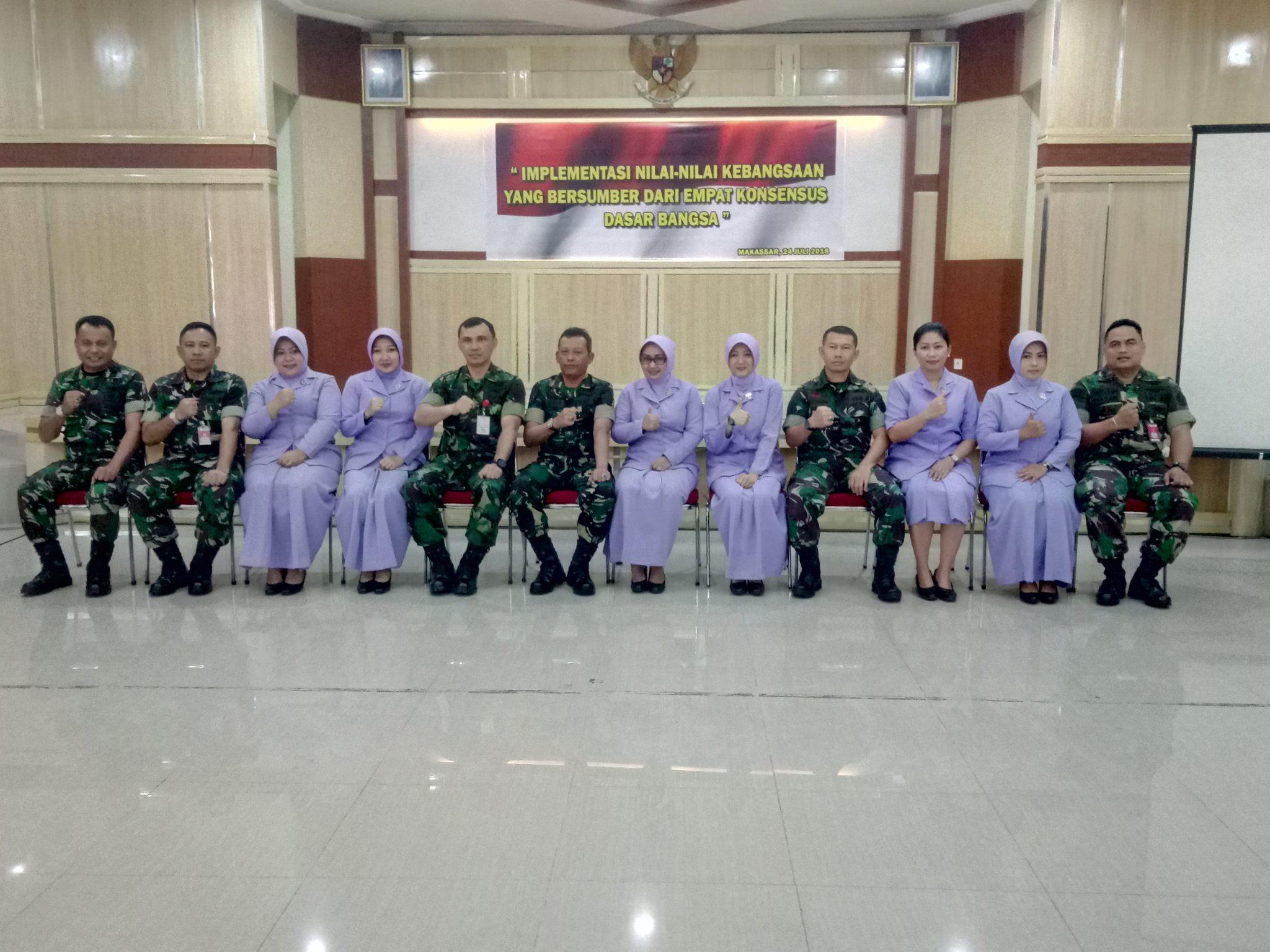 Syukuran Rangkaian HUT IKKT Ke-52 di Gedung Loly Wardiman Kosekhanudnas II Makassar