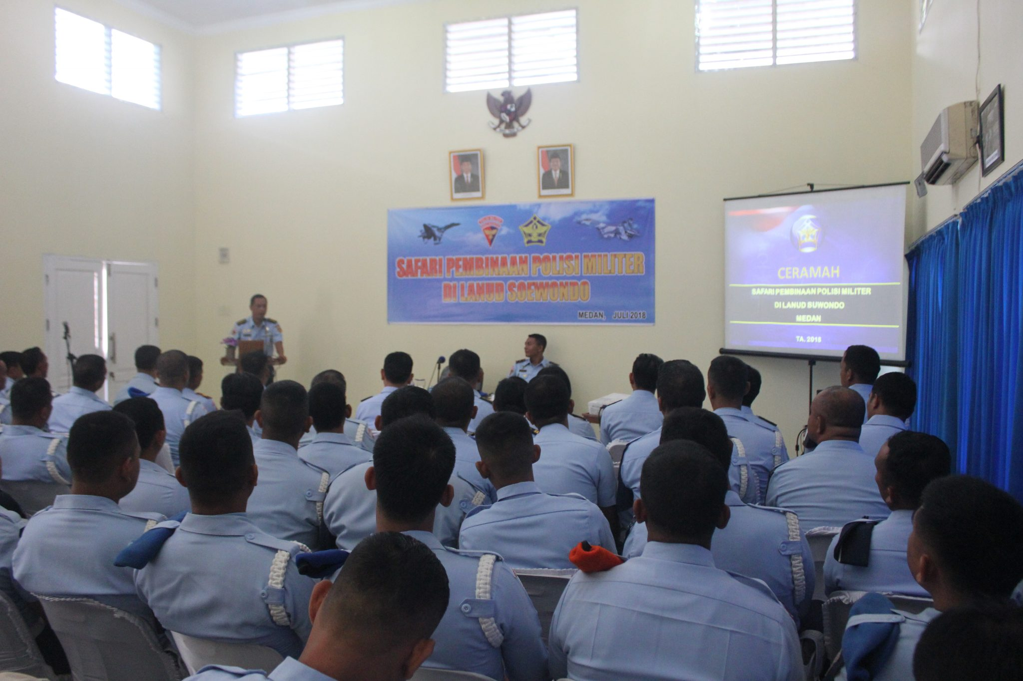 Safari Pembinaan Polisi Militer Di Lanud Soewondo