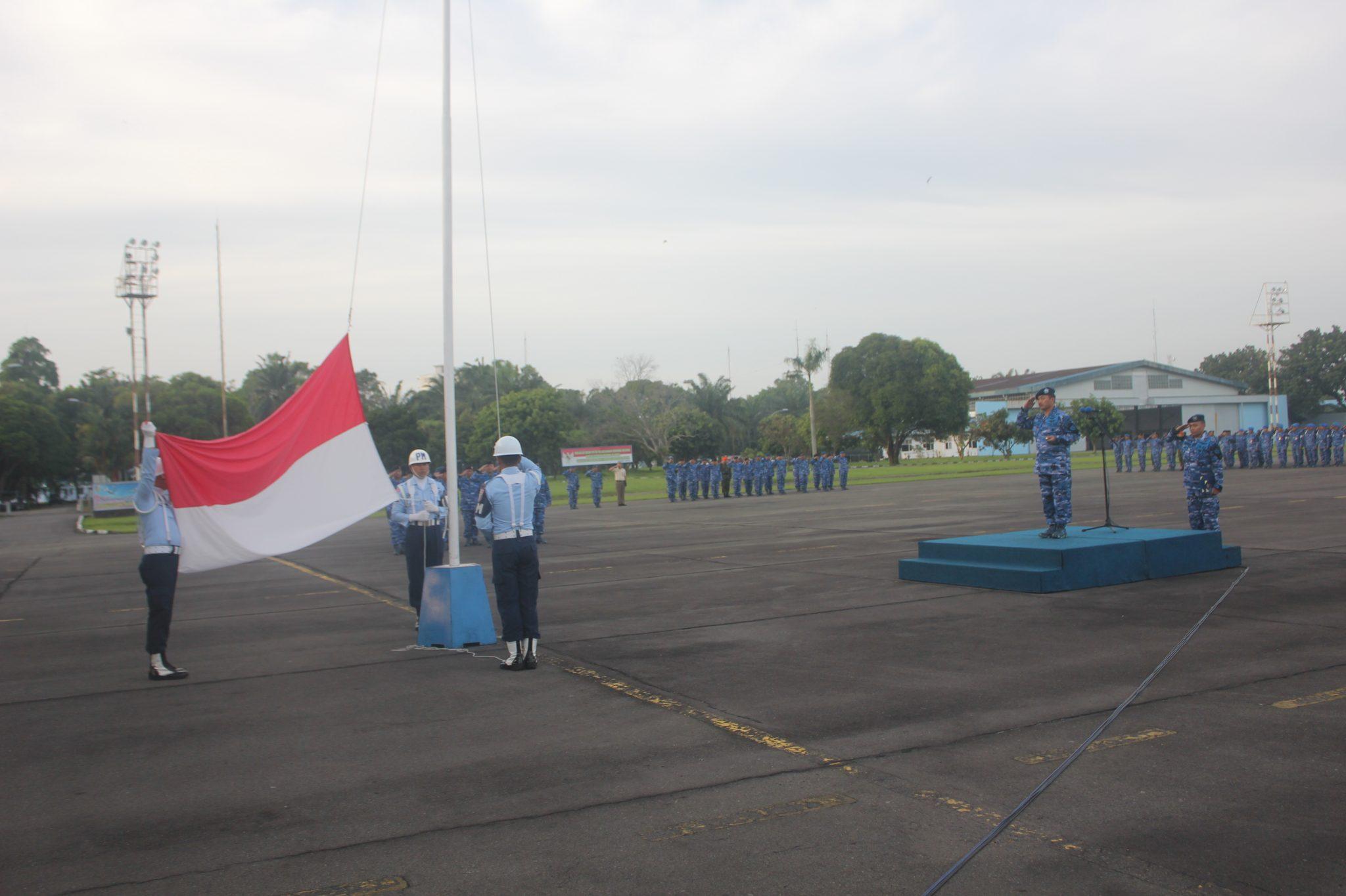 Upacara Bendera 17an Di Lanud Soewondo