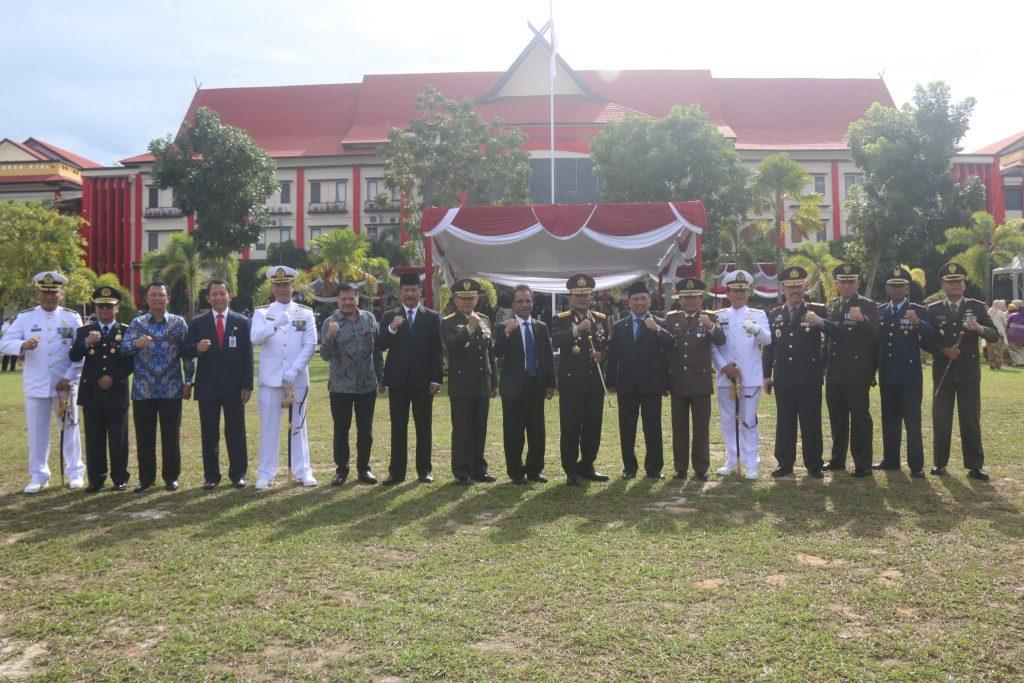 Perwakilan Lanud Raja Haji Fisabilillah Hadiri Upacara HUT Bhayangkara ke 72 di Polda Kepulauan Riau