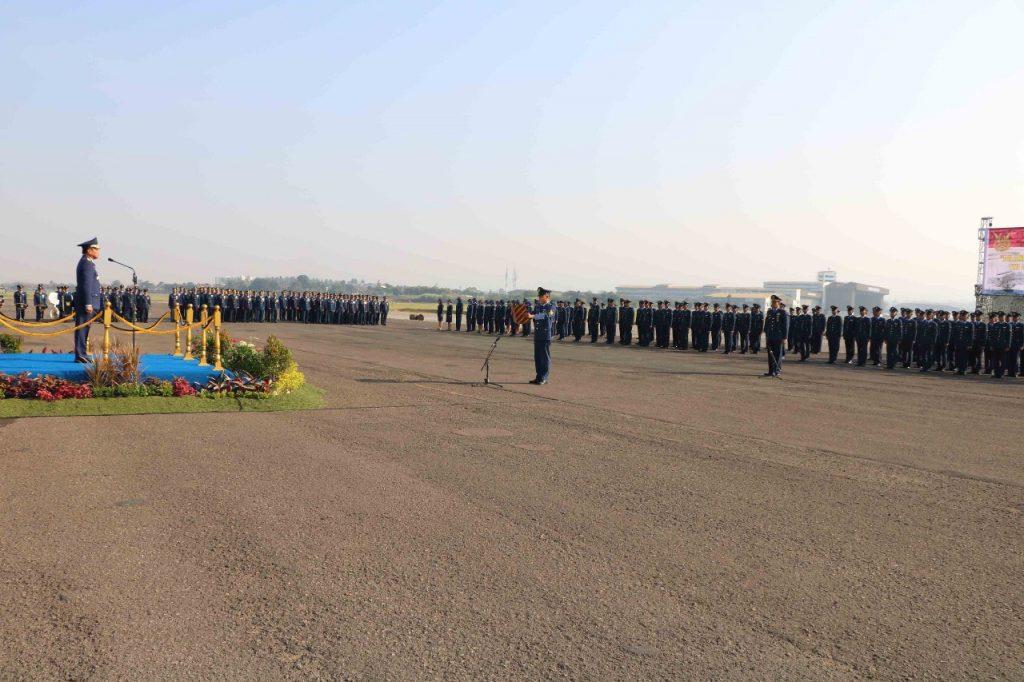 Upacara Peringatan Hari Bakti Ke-71 TNI Angkatan Udara di Lanud Husein Sastranegara