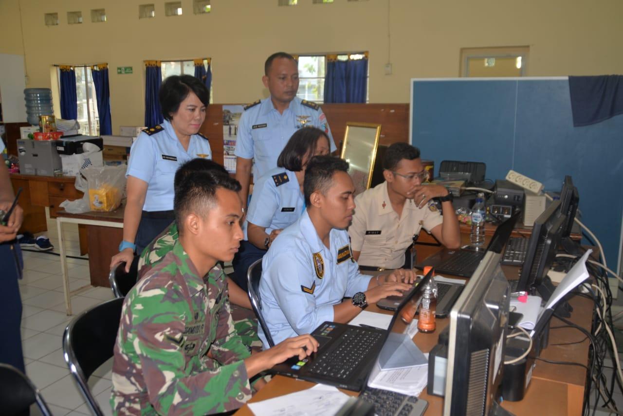 Tim Slogau Monitoring dan Reevaluasi Simak BMN di Lanud Atang Sendjaja
