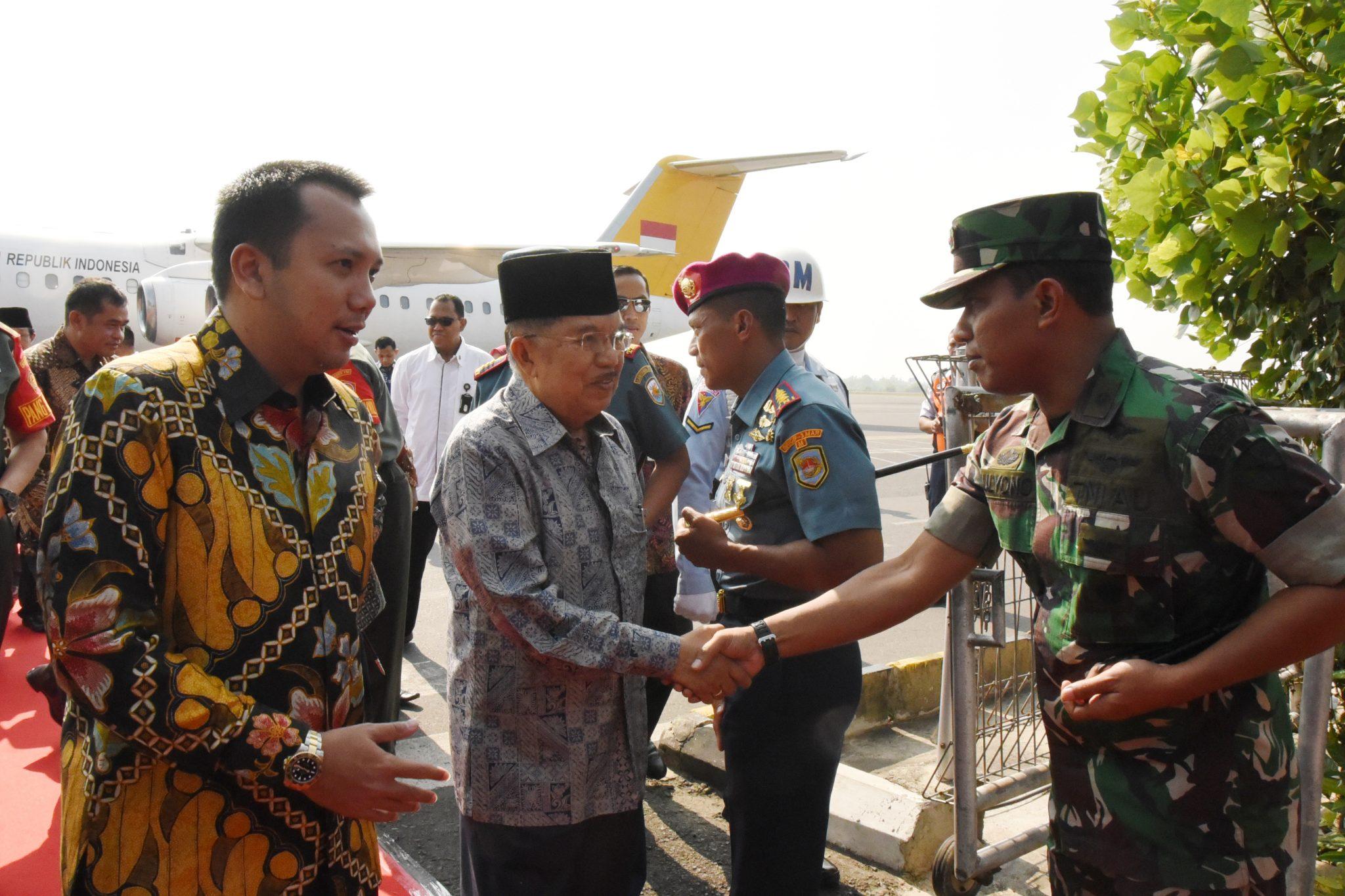 Danlanud Pangeran M. Bun Yamin Sambut Kedatangan Wapres RI ke Provinsi Lampung