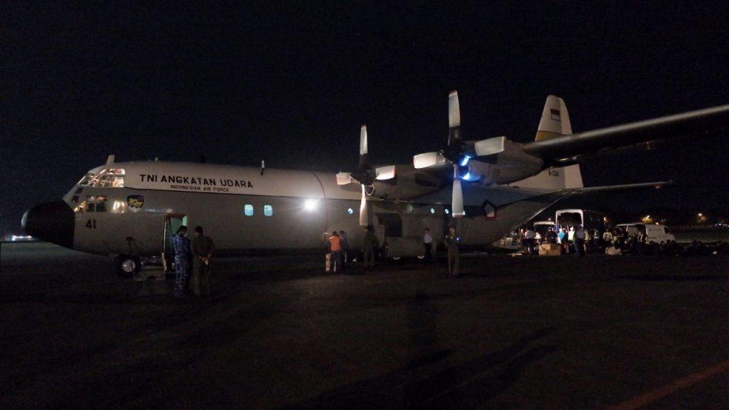 C 130 Hercules TNI AU Bawa Api Asian Games ke Aceh