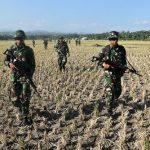 Cegah Separatis Pasukan Hanlan Lanud Husein Sastranegara Lakukan Penyisiran