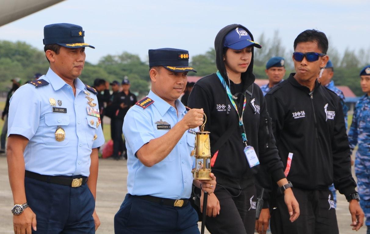 Api Asian Games Diterima Danlanud Sultan Iskandar Muda