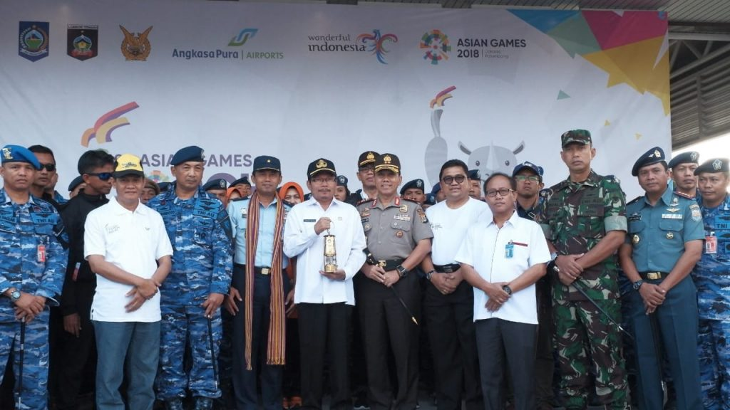 Api Asian Games 2018 Tiba di Lombok dengan Hercules C 130 TNI AU