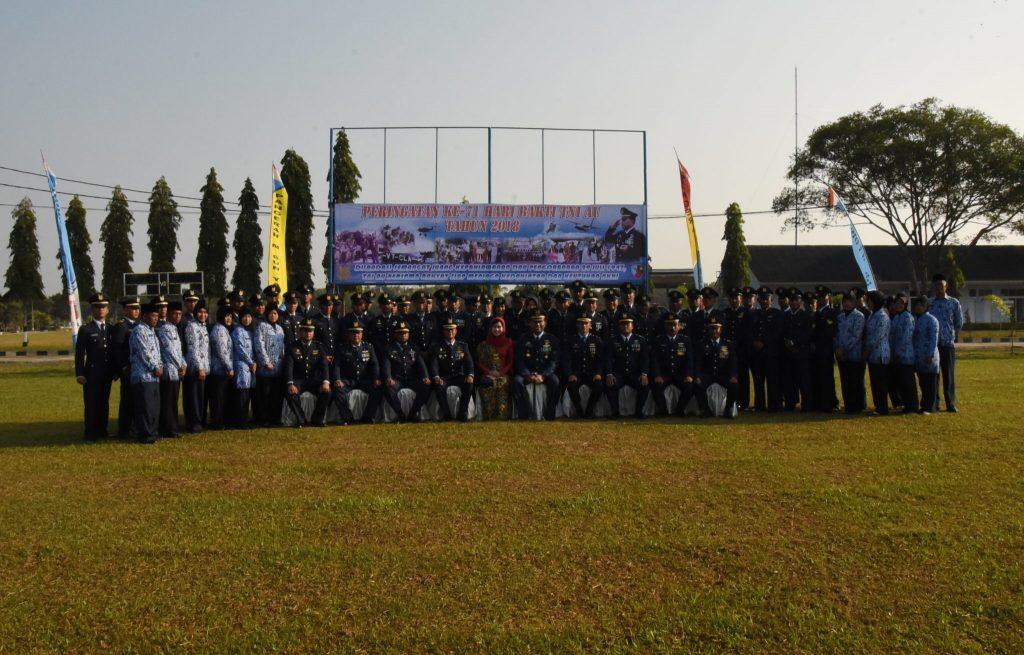 Lanud Pangeran M. Bun Yamin Laksanakan Upacara Peringatan Hari Bakti TNI AU ke-71