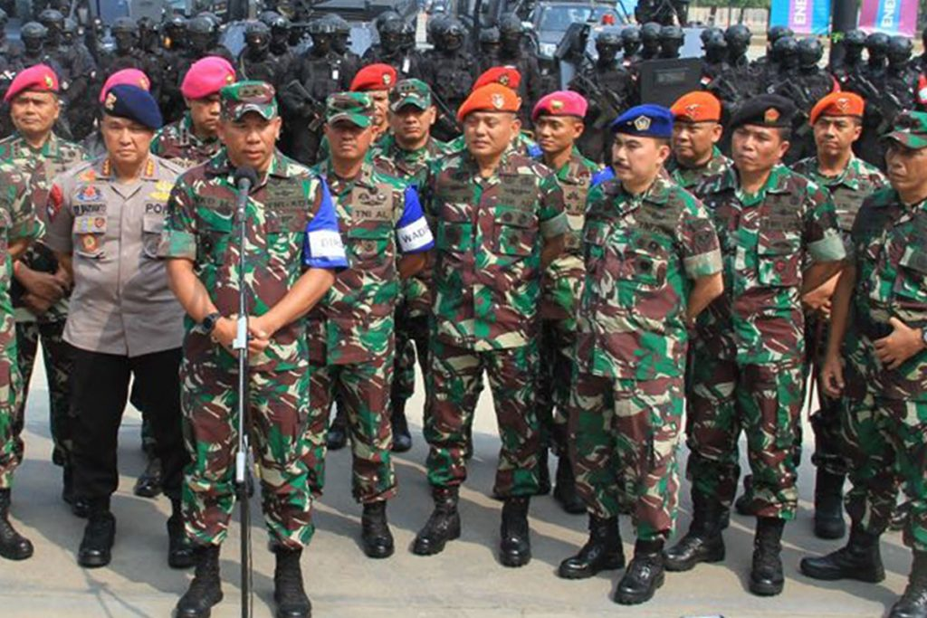 Wadan Korpaskhas Meninjau Latihan Satgas Gultor TNI Jelang Asian Games 2018