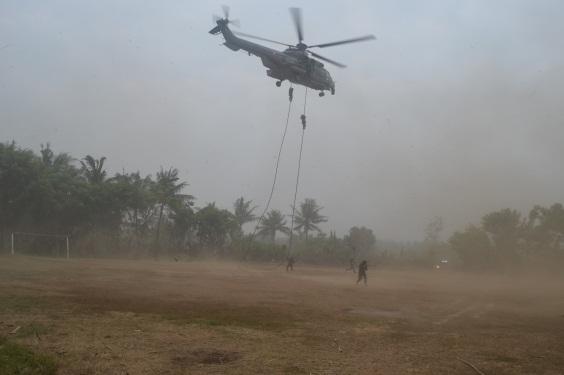 Yonko 461 Paskhas Gelar Latihan di Wilayah Aset Satrudal Teluk Naga