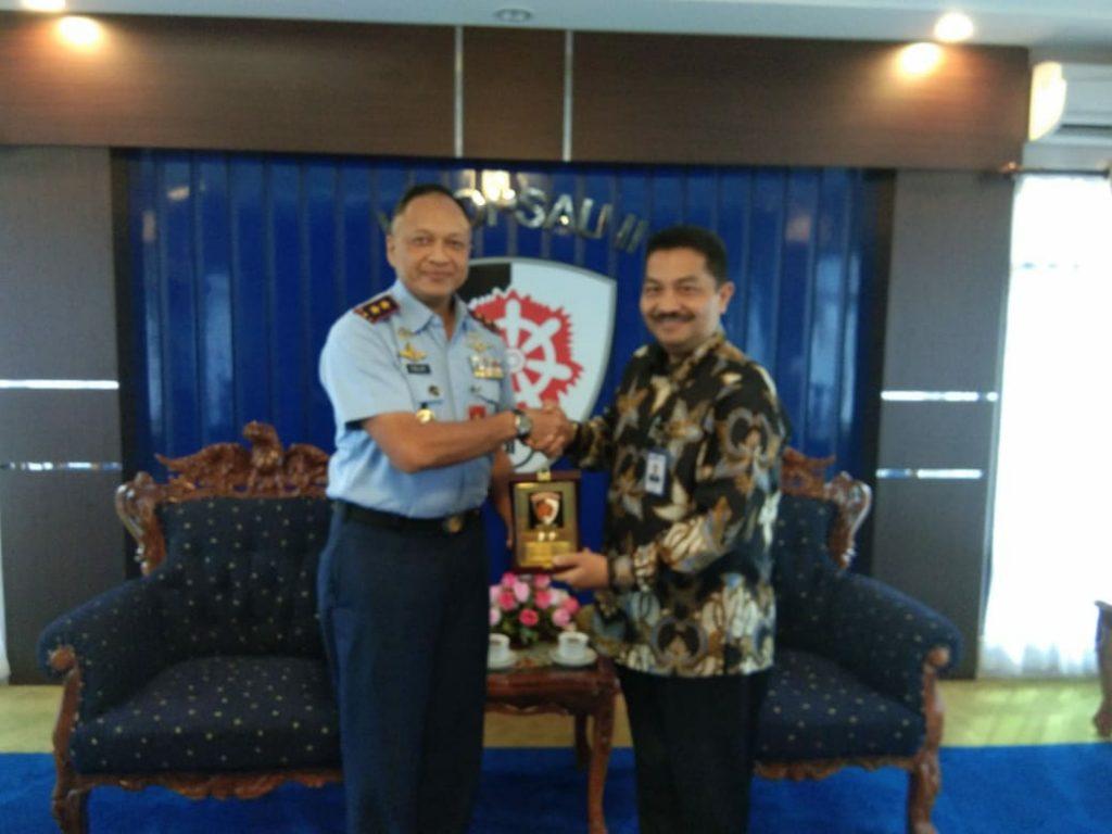 Pangkoopsau II Menerima Kunjungan Kepala BRI Makassar