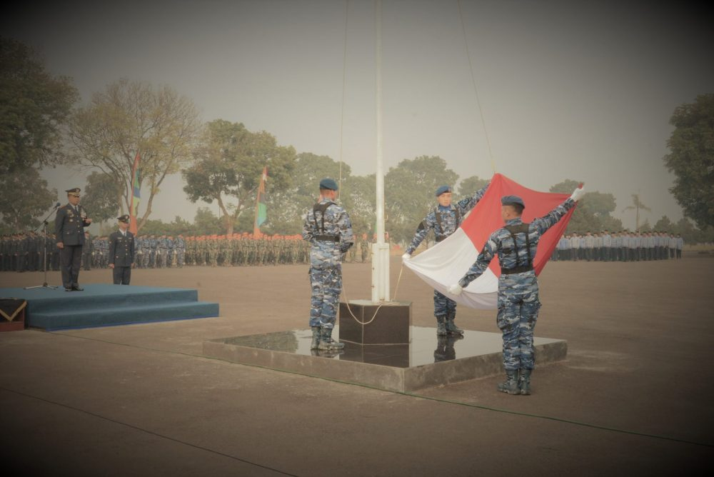 Lanud Sulaiman Laksanakan Upacara Peringatan Ke-73 Hari Kemerdekaan RI