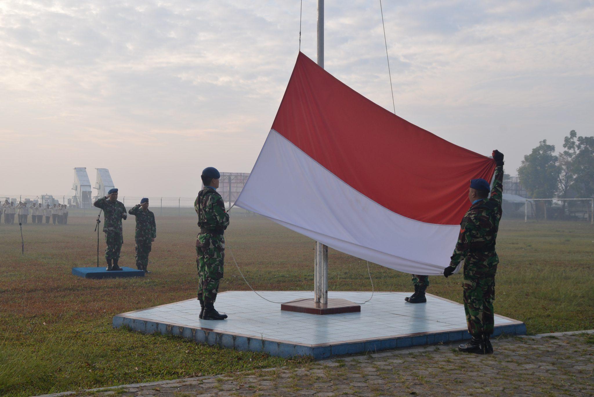 Upacara Bendera Mingguan Bulan Agustus 2018 di Lanud Sjamsudin Noor