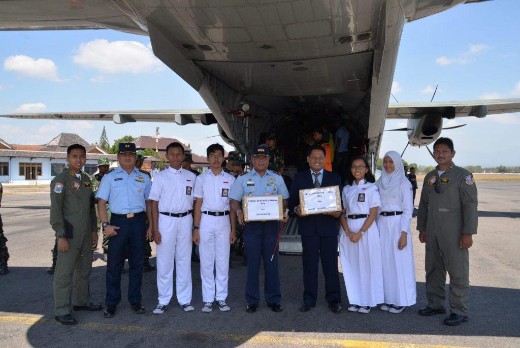 Dandepohar 50 Lepas Keberangkatan 11 Ton Bantuan Gempa Lombok