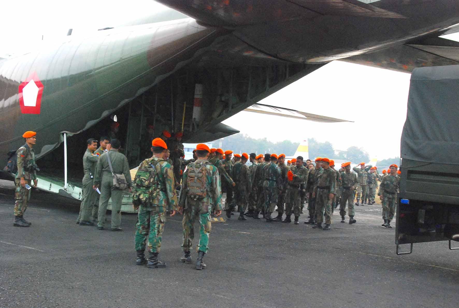 Satgas Paskhas Berangkat Menuju Lombok