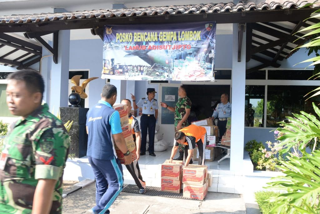 Wujud Kepedulian Musibah Gempa, Lanud Adisutjipto Segera Kirim Bantuan ke Lombok
