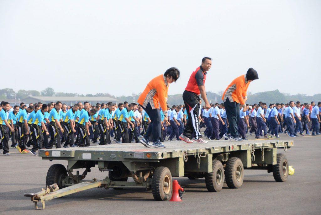 Sukseskan Pemecahan Rekor Muri senam Gemu Famire, 871 Anggota Latihan di Appron Iswahjudi