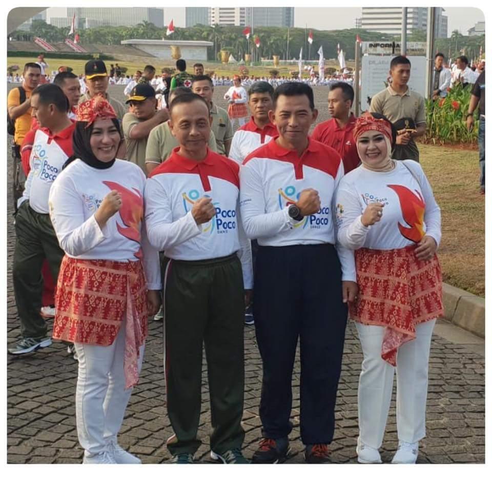 Semarak Asian Games 2018 2500 Personel TNI AU Terlibat Pemecahan Rekor Dunia Poco-Poco