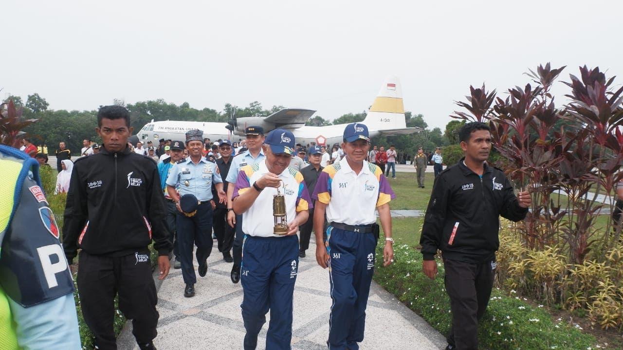 Torch Relay Asian Games 2018 Gubernur Riau : Peran Penting TNI AU Sukseskan Asian Games