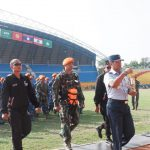Prajurit Paskhas TNI AU Terjun Bawa Api Asian Games 2018