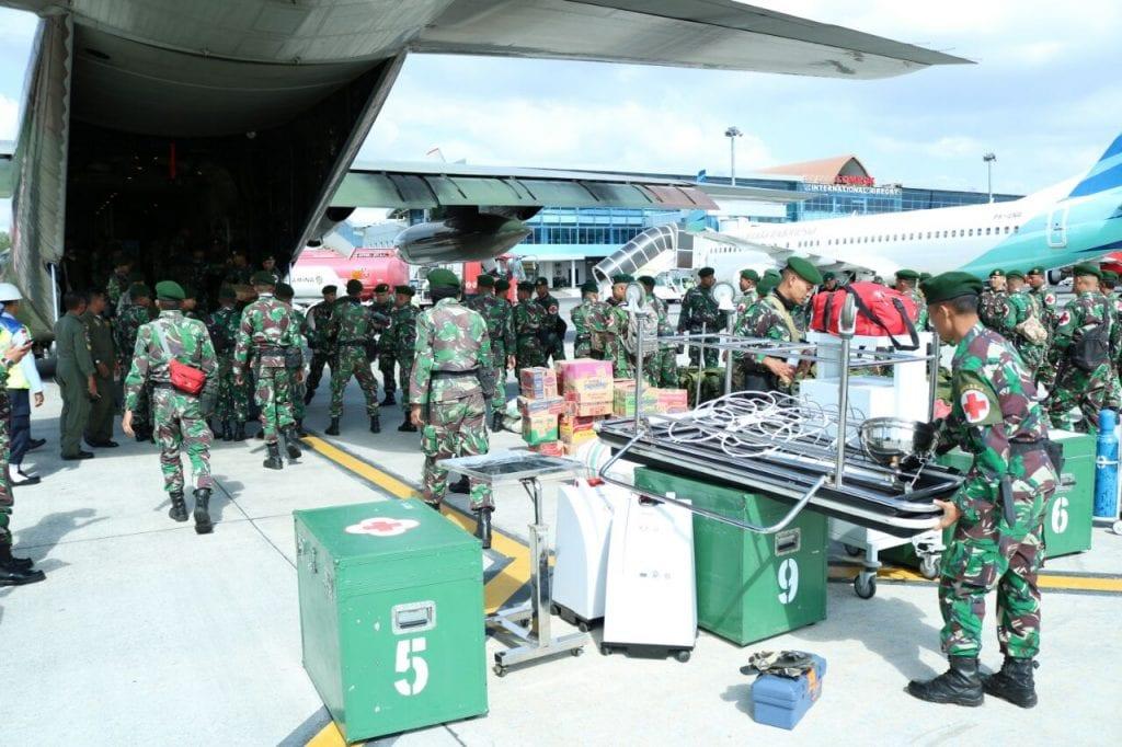 Peduli Korban Gempa Lombok, Lanud Zam Gelar Baksos