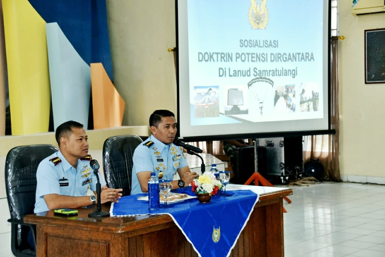 Sosialisasi Doktrin Pembinaan Potensi Dirgantara di Lanud Sam Ratulangi