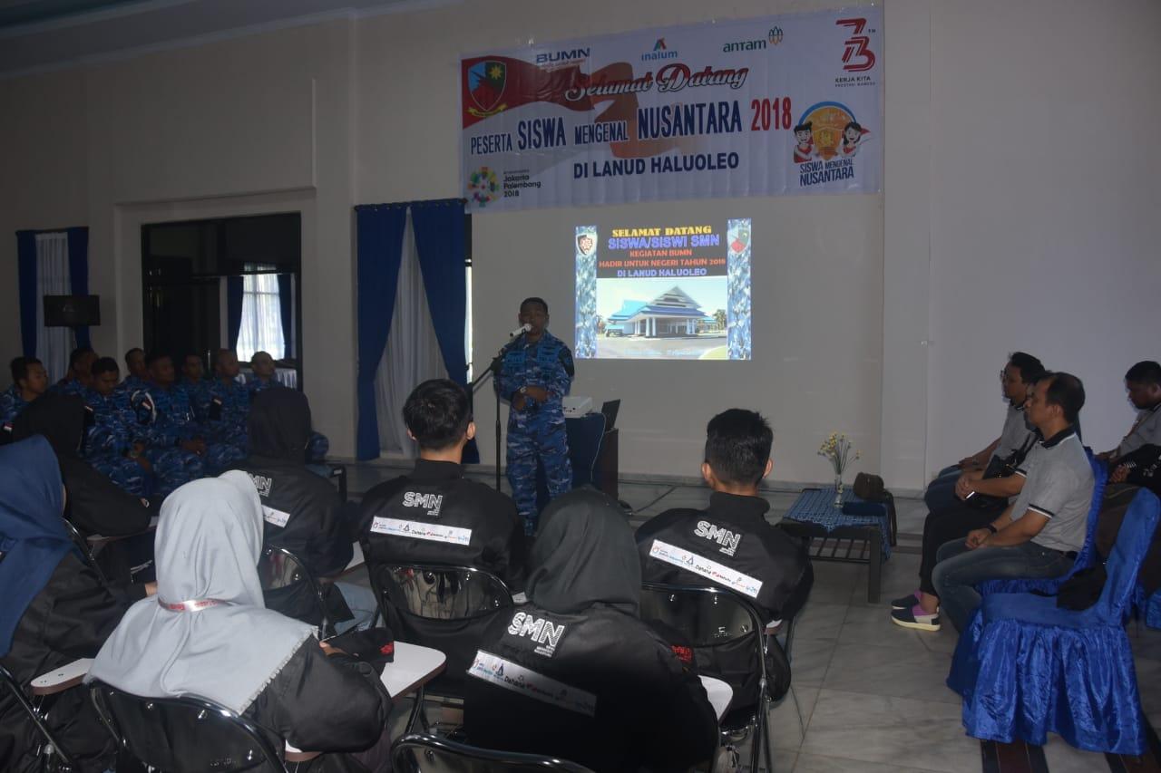 Lanud Haluoleo Dukung Kegiatan Bela Negara Siswa Mengenal Nusantara