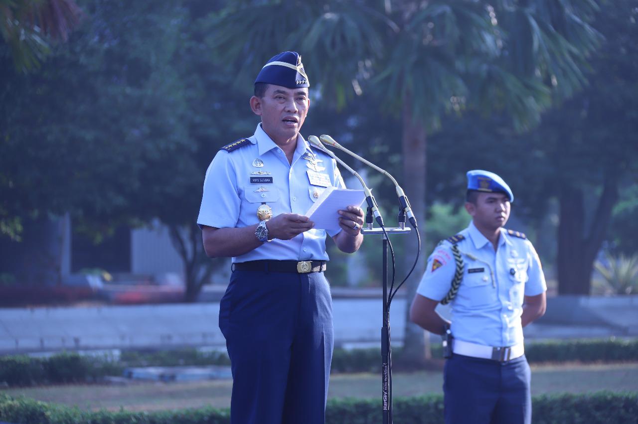 Apel Khusus Penerimaan Kontingen TNI AU, Kasau Bangga Atas Dedikasi Prajurit