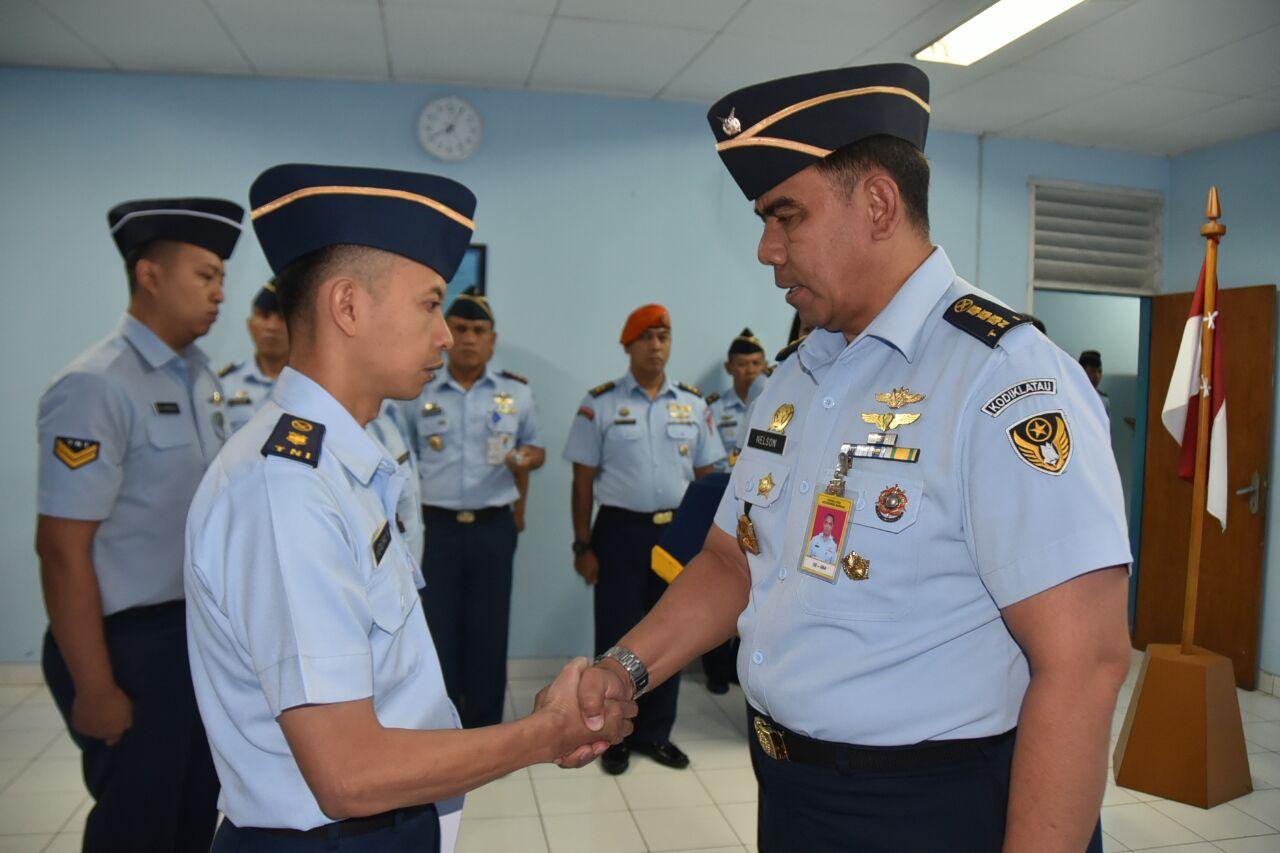 Upacara Penutupan Dik KIBI TNI AU A. Ke-56 Dan Pembukaan KIBI TNI AU A. Ke-57 Di Sesa Lanud Husein S. Skadik 505 Wingdikum