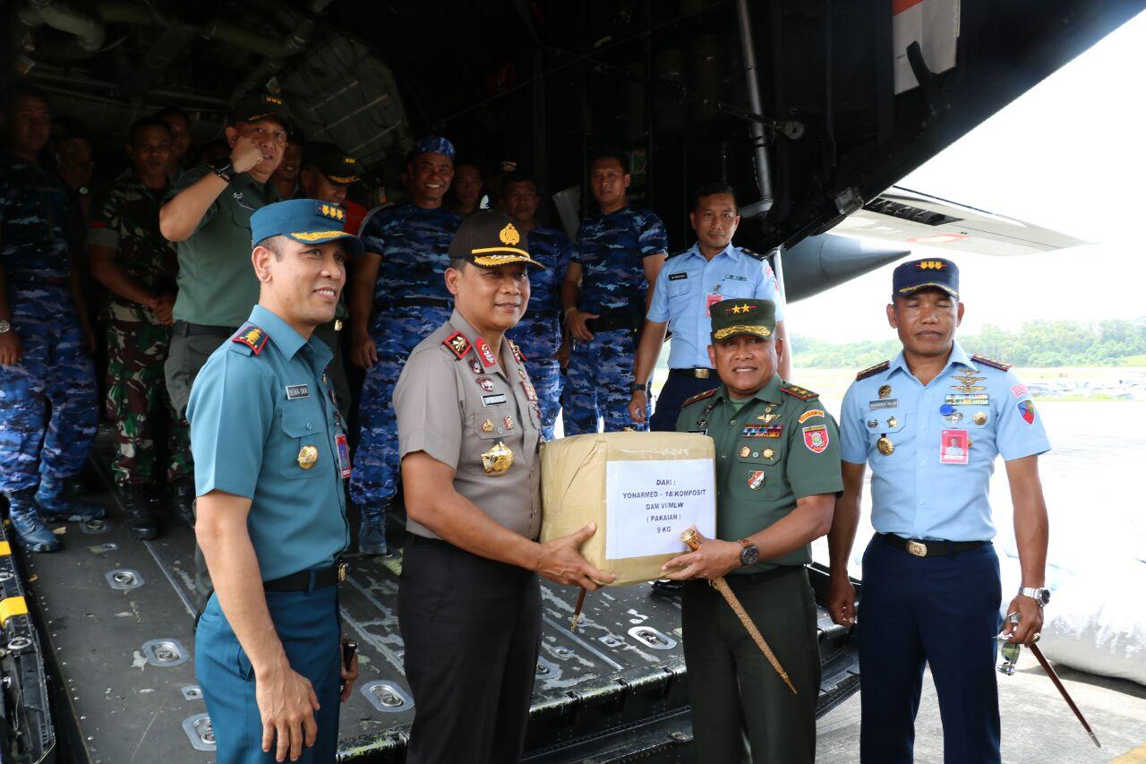 Bantuan Kemanusiaan TNI/POLRI dan Masyarakat Kaltim, Untuk Korban Gempa di Lombok.
