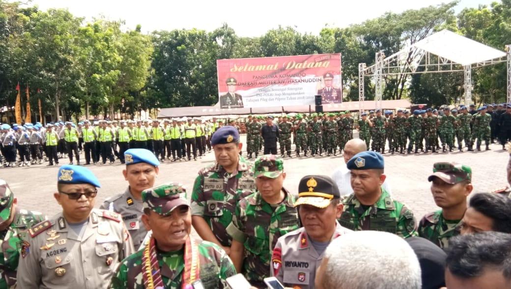 Danlanud Haluoleo Hadiri Apel Gabungan TNI-Polri