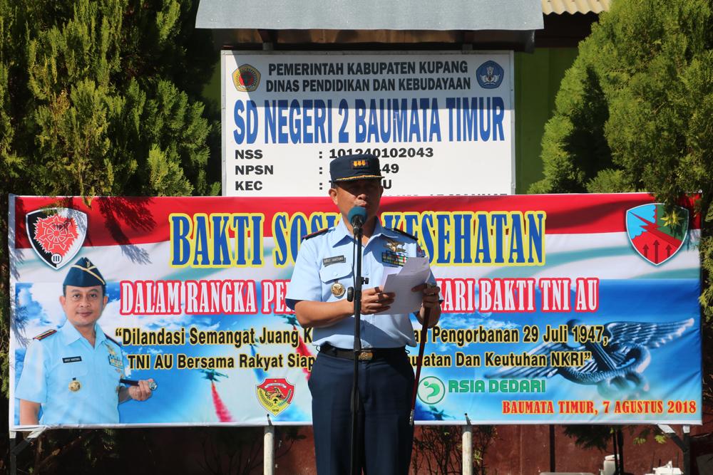 Lanud El Tari Selenggarakan Bakti Sosial Dalam Rangka Hari Bhakti Ke-71 TNI AU