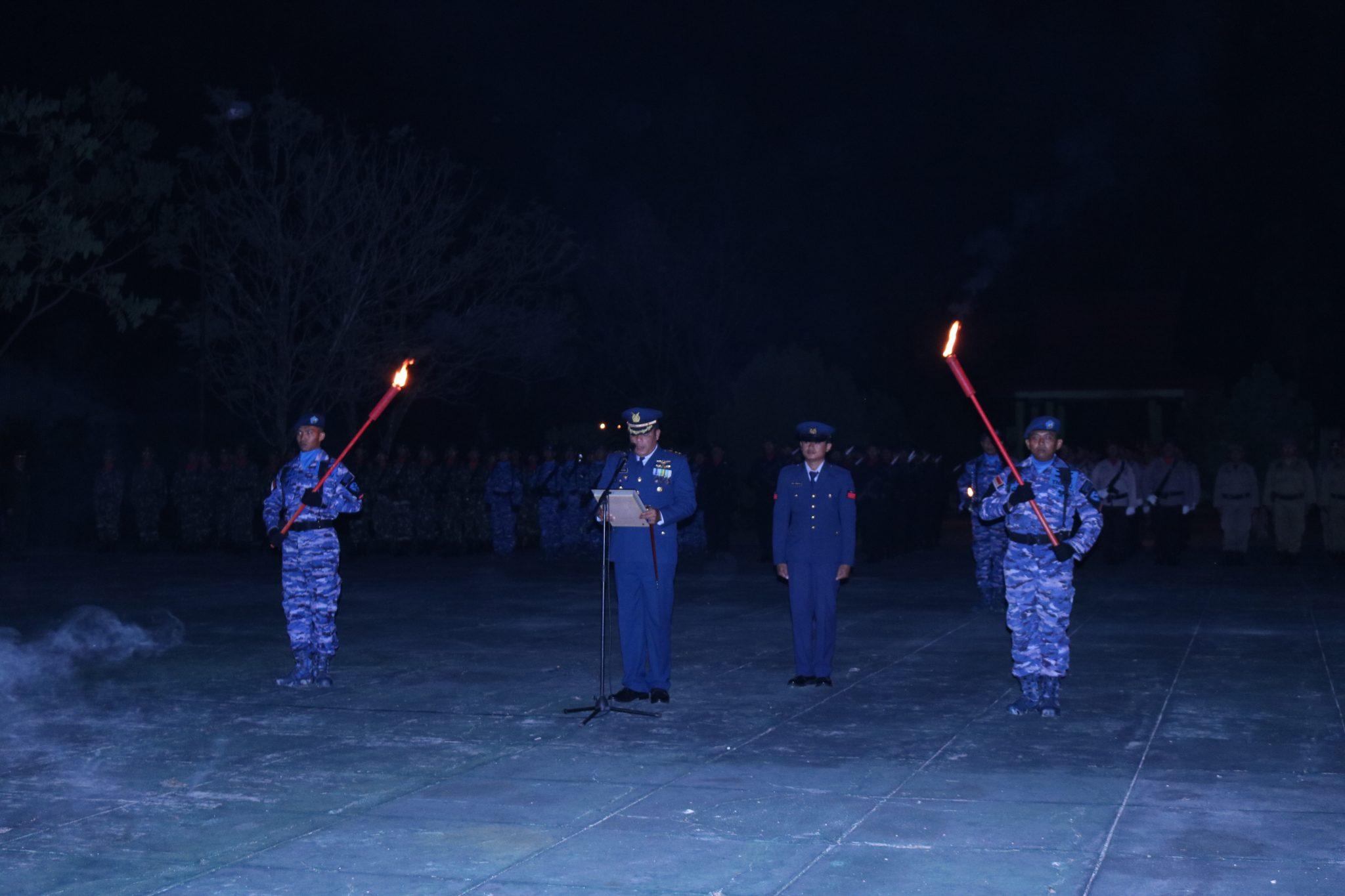Komandan Lanud Iskandar Pimpin AKRS di TMP Indra Pura