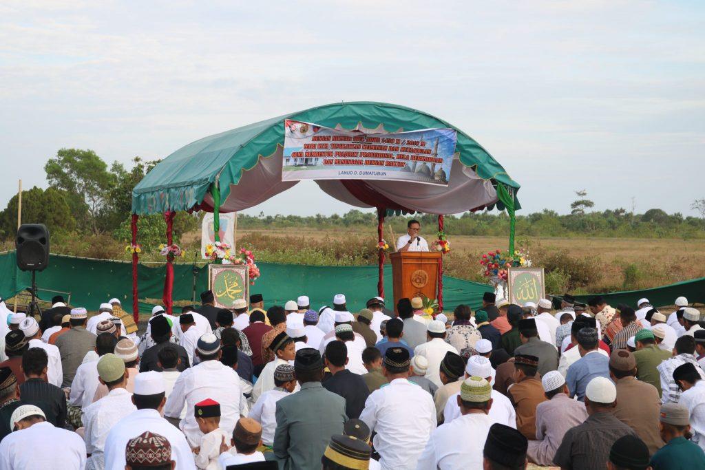 Sholat Idul Adha 1439 H/ 2018 M Kabupaten Maluku Tenggara Terpusat di Lanud Dominicus Dumatubun
