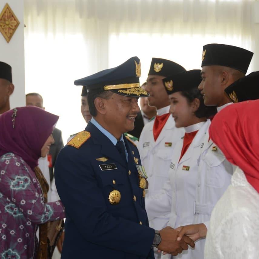 Danlanud Adisutjipto Hadiri Upacara Detik-Detik Proklamasi di Gedung Agung Yogyakarta