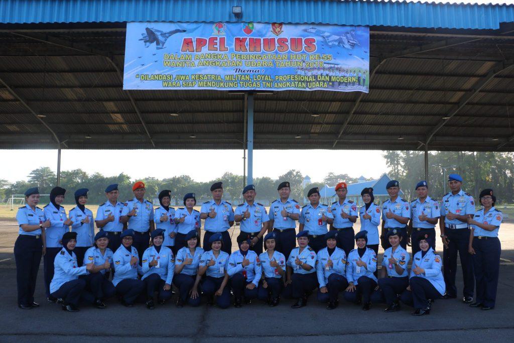 Apel Khusus Peringatan ke-55 HUT Wara di Lanud Soewondo